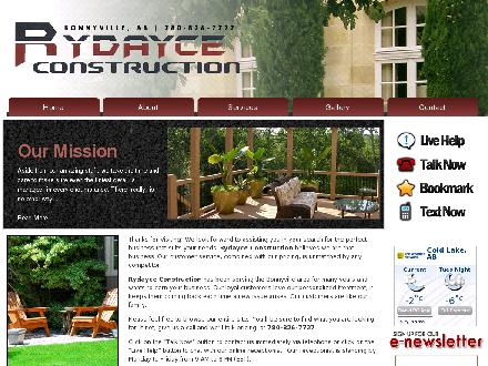 Rydayce Construction (780-812-4825) - Website thumbnail - http://www.rydayceconstruction.com