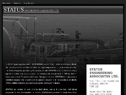 Status Engineering Associates Ltd (403-245-4462) - Onglet de site Web - http://www.statuseng.com