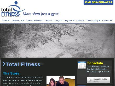 Total Fitness (604-888-4774) - Onglet de site Web - http://www.totalfitnesslangley.com