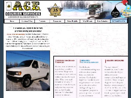 A C E Courier Services (1-888-302-1311) - Website thumbnail - http://www.acecourier.bc.ca