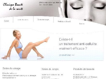 Clinique Beaut&eacute; de la Sant&eacute; (514-374-4840) - Website thumbnail - http://www.cliniquebeaute.com