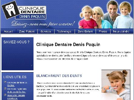 Clinique Dentaire Denis Paquin (819-474-1891) - Website thumbnail - http://www.cliniquedentairedenispaquin.com