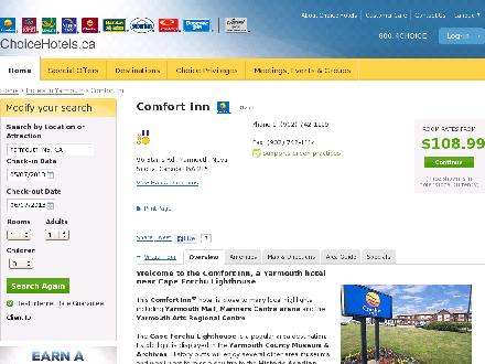 Comfort Inn (902-742-1119) - Website thumbnail - http://www.choicehotels.ca/cn253