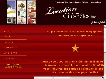 Location Cit&eacute;-F&ecirc;tes (450-466-3060) - Onglet de site Web - http://www.locationcitefetes.com/