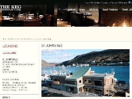 The Keg Steakhouse & Bar (709-726-4534) - Onglet de site Web - http://www.kegsteakhouse.com/en/locations/NL/st-johns/st-johns-keg/