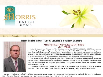 Morris Funeral Home (204-746-2451) - Website thumbnail - http://www.morrisfuneralhome.ca