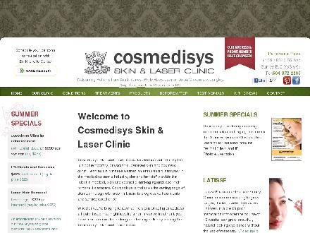 Cosmedisys Skin &amp; Laser Clinic (604-372-2203) - Website thumbnail - http://www.cosmedisys.ca