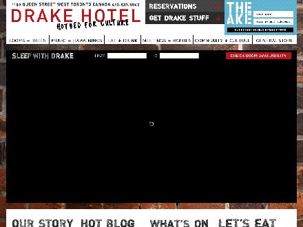 Drake Hotel (416-531-5042) - Onglet de site Web - http://www.thedrakehotel.ca