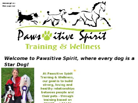 Pawsitive Spirit (705-725-0665) - Website thumbnail - http://www.PawsitiveSpirit.com