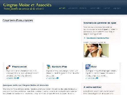 Assurance Gingras Moïse & Ass Inc (514-257-0999) - Website thumbnail - http://www.gingrasmoise.ca
