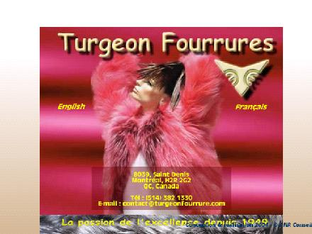 Turgeon &amp; Nicholas Fourrures (514-382-1330) - Onglet de site Web - http://www.turgeonfourrures.com