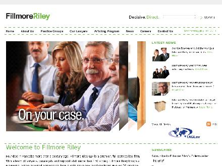 Fillmore Riley LLP (204-956-2970) - Onglet de site Web - http://www.fillmoreriley.com