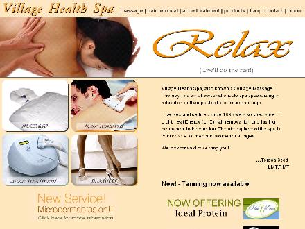 Village Health Spa (204-253-0748) - Onglet de site Web - http://www.villagehealthspa.com