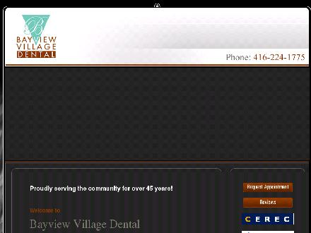 Bayview Village Dental Association (416-224-1775) - Website thumbnail - http://www.bayviewvillagedental.com/