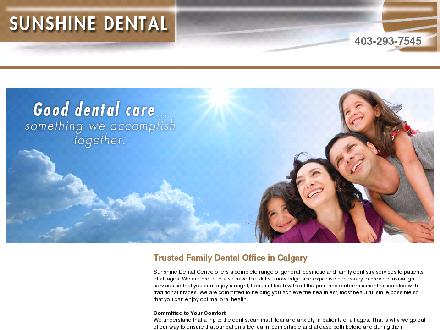 Sunshine Dental Centre (403-293-7545) - Website thumbnail - http://www.sunshinedental.ca
