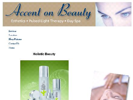 Accent On Beauty (613-238-3236) - Onglet de site Web - http://www.accent-on-beauty.com