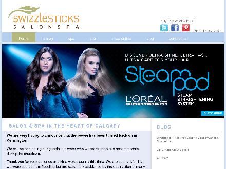 Swizzlesticks Salonspa (403-270-7333) - Website thumbnail - http://www.swizzlesticks.com