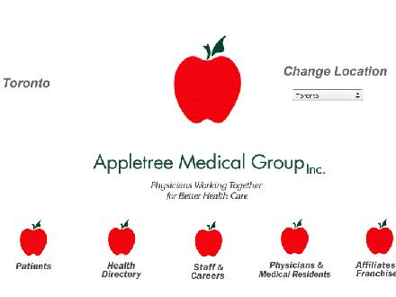 Appletree Medical Centre (647-722-2370) - Onglet de site Web - http://www.appletreetoronto.com