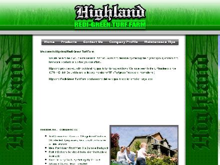 Highland Redi-Green Turf Farm (604-465-9812) - Website thumbnail - http://www.highlandturffarm.ca