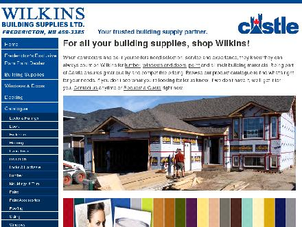 Wilkins Building Supplies Ltd (506-459-3385) - Onglet de site Web - http://www.wilkinsbuild.com