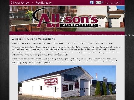 Allison's Manufacturing Ltd (506-546-6988) - Onglet de site Web - http://www.allisons.ca