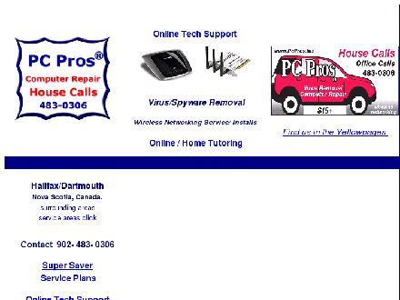 PC Pros Computer Repair & Wireless Networking (902-483-0306) - Onglet de site Web - http://www.pcpros.biz