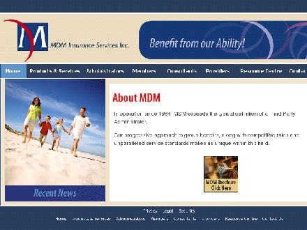 MDM Insurance Services Inc (519-837-1531) - Onglet de site Web - http://www.mdm-insurance.com