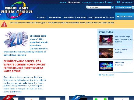 Magic Light Inc (450-433-5955) - Website thumbnail - http://www.magiclight.net