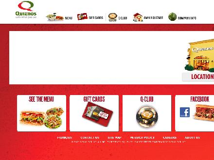 Quizno's Oven Toasted Subs (506-458-8284) - Onglet de site Web - http://www.quiznos.ca