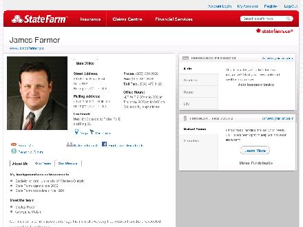 Farmer, James - State Farm Insurance Agent (905-681-8126) - Website thumbnail - http://STATEFARM.MQGROUP.COM/URL.ASP?U=602204