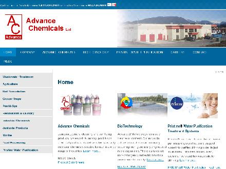 Advance Chemicals Ltd (604-945-9666) - Onglet de site Web - http://advancechemicals.ca