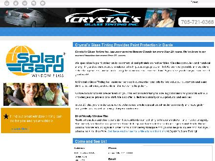 Crystal's Glass Tinting Inc (705-721-0368) - Website thumbnail - http://crystalsglasstintinginc.ca