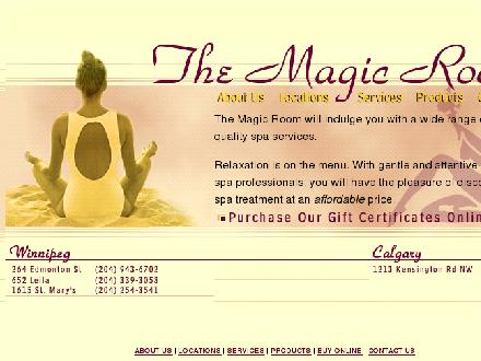 Magic Room (204-515-1478) - Onglet de site Web - http://www.themagicroom.com
