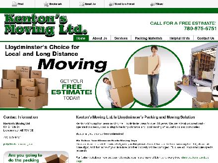 Kenton's Moving Ltd (780-875-6751) - Website thumbnail - http://kentonsmoving.ca