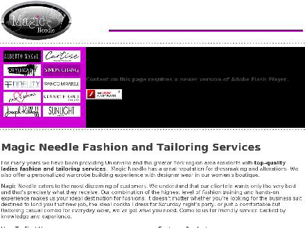 Magic Needle Fashion Inc (905-780-6767) - Onglet de site Web - http://www.magicneedle.ca