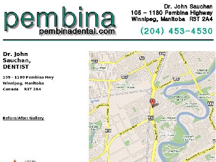 Pembina Dental Centre (204-453-4530) - Onglet de site Web - http://www.pembinadental.com