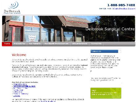Delbrook Surgical Centre (604-985-7488) - Website thumbnail - http://www.delbrooksurgical.com
