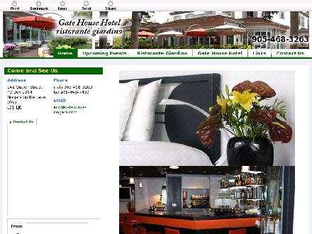 Gate House Hotel - Ristorante Giardino (905-468-3263) - Onglet de site Web - http://gatehouse-niagara.ca
