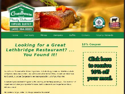 Guesthouse Restaurant Ltd (403-394-9333) - Website thumbnail - http://www.guesthouserestaurant.com