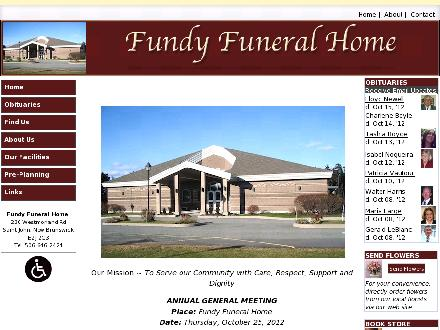 Fundy Funeral Home (506-646-2424) - Website thumbnail - http://www.fundyfuneralhome.com