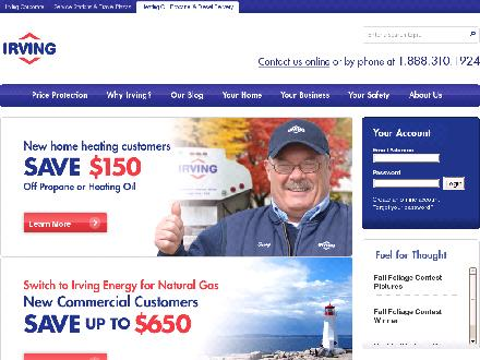 Irving Energy (1-888-310-1924) - Website thumbnail - http://www.irvingenergy.com