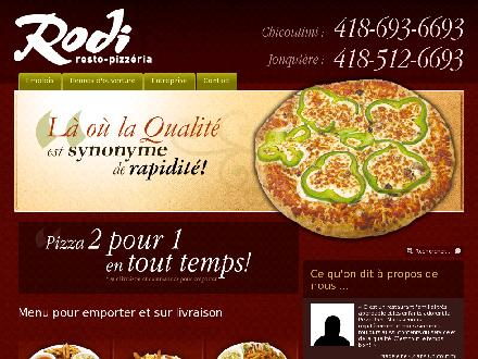 Pizza Rodi 2 pour 1 (418-693-6693) - Onglet de site Web - http://www.rodipizzeria.ca