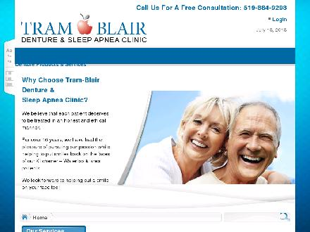 Tram-Blair Denture Clinic (519-884-9298) - Website thumbnail - http://www.tramblairdental.ca
