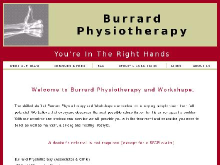 Burrard Physiotherapy (604-684-1640) - Onglet de site Web - http://www.burrardphysioassociates.com
