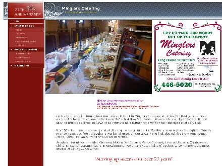 Mingler's Restaurant &amp; Pub (1-888-955-2726) - Onglet de site Web - http://www.minglerscatering.com