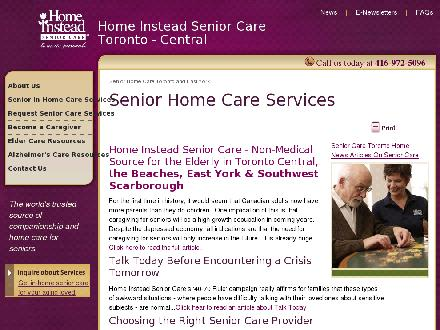 Home Instead Senior Care (416-698-1384) - Onglet de site Web - http://www.seniorservice.ca