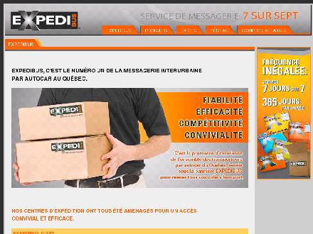 Expedibus (418-285-4740) - Onglet de site Web - http://www.expedibus.com