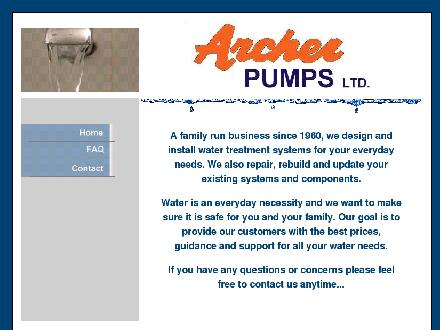 Archer Pumps Ltd (613-541-1679) - Onglet de site Web - http://www.archerpumps.com