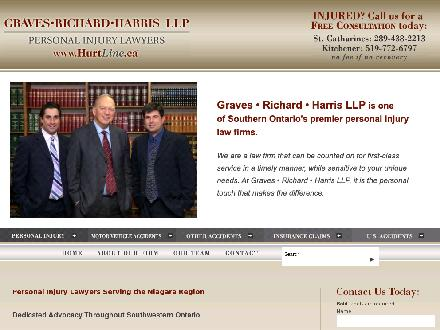 Graves Richard Harris LLP (519-725-8000) - Website thumbnail - http://www.hurtline.ca