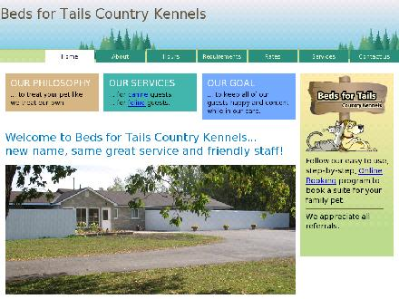 Beds for Tails Country Kennels (613-821-3894) - Onglet de site Web - http://www.bedsfortails.com